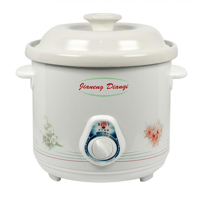 White ceramic electric cooker porridge pot electric slow cooker ceramic Tangbao BB electric cooker oven casserole health 2.5L3.5(China (Mainland))