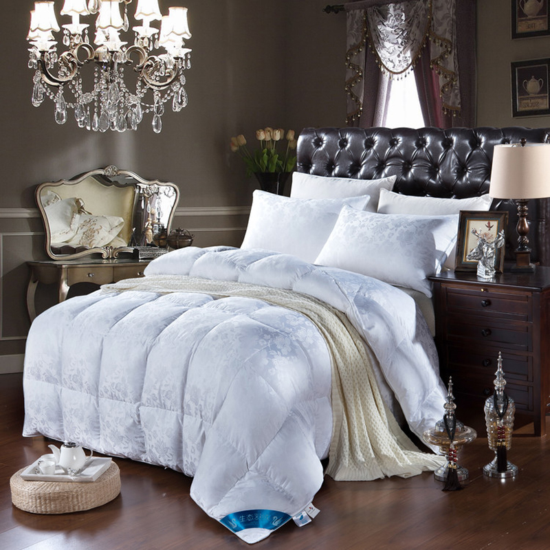 Silk Floss jacquard Pattern Blanket winter Goose Down warm Comforters queen king size quilted Quilt Comforter Filling(China (Mainland))