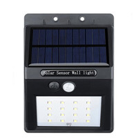 1 Pcs Solar 16 LED Wall Pathway Porch Outdoor Light Garden Yard Motion Sensor Outdoor Lighting Wall Lamps