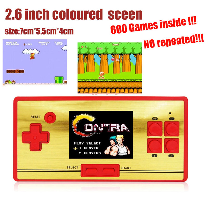 2.6 inch Preload 600 Classical Mini Games Handheld Game Console Game Player for FC classical Games Support to contact TV(China (Mainland))