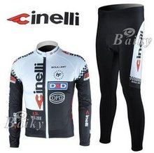 Winter clothes! 2010 #1 CIL team Winter long sleeve cycling jersey+pants bike bicycle thermal fleeced set+Velveteen!(China (Mainland))