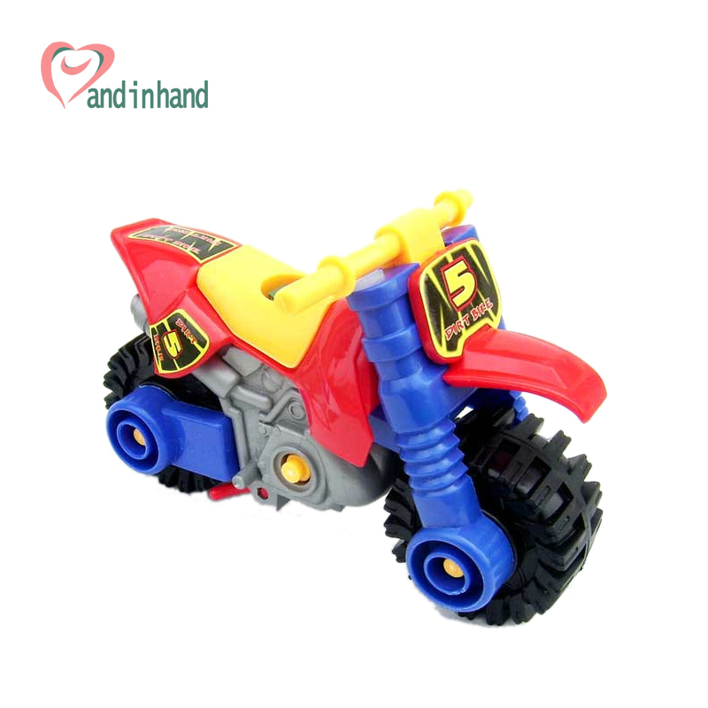 Model Building Kits Toy Assembly Motorcycle DIY Toys For Children Monterssori Blocks Kids Educational Plastic Gift Boy Toys(China (Mainland))