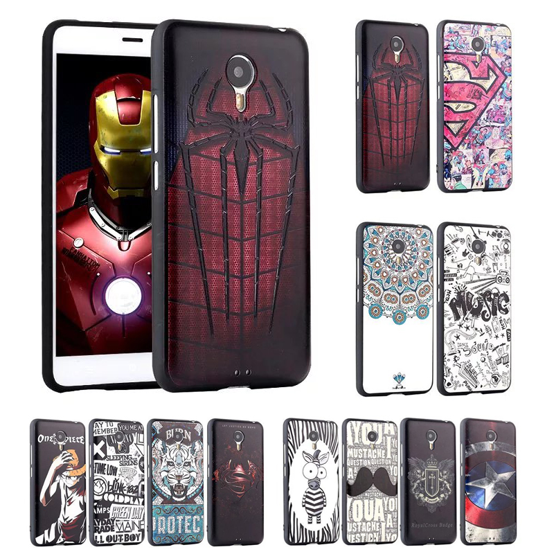 Luxury Ultra Thin 3D Relief Patterns Sculpture Soft Plastic Case Cover For Meizu Metal TPU Soft Painted Silicone Phone Bags(China (Mainland))