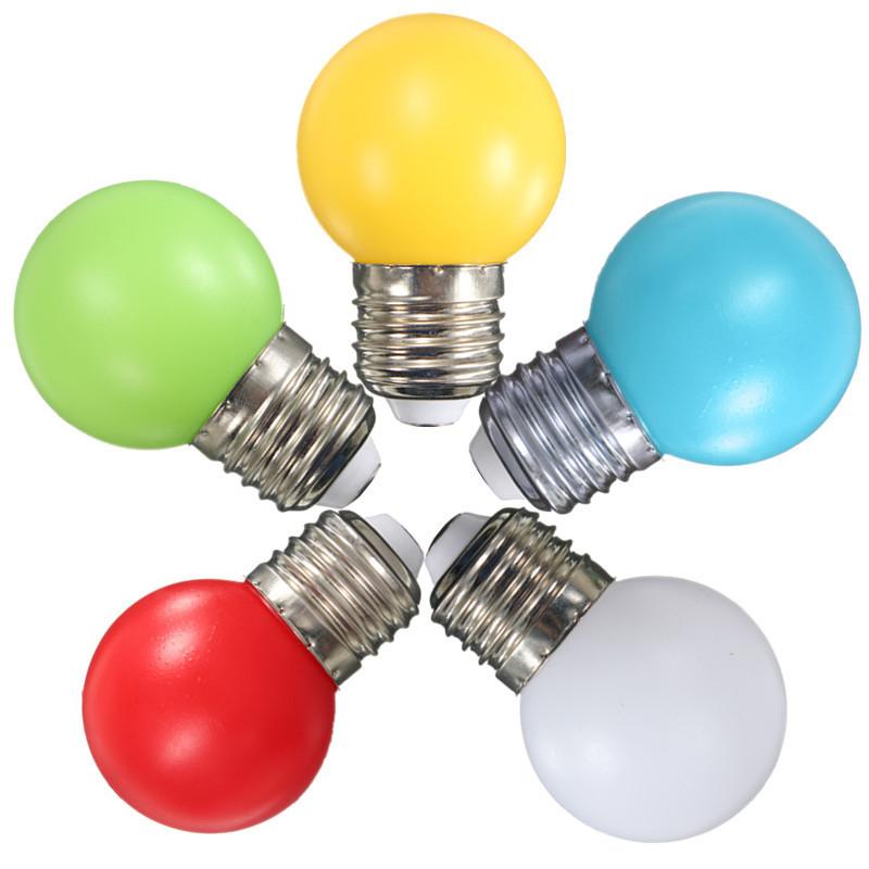 Newest Colorful E27 1W 2W 3W Energy Saving LED Golf Ball Light Bulb Globe Lamp AC110-240V(China (Mainland))