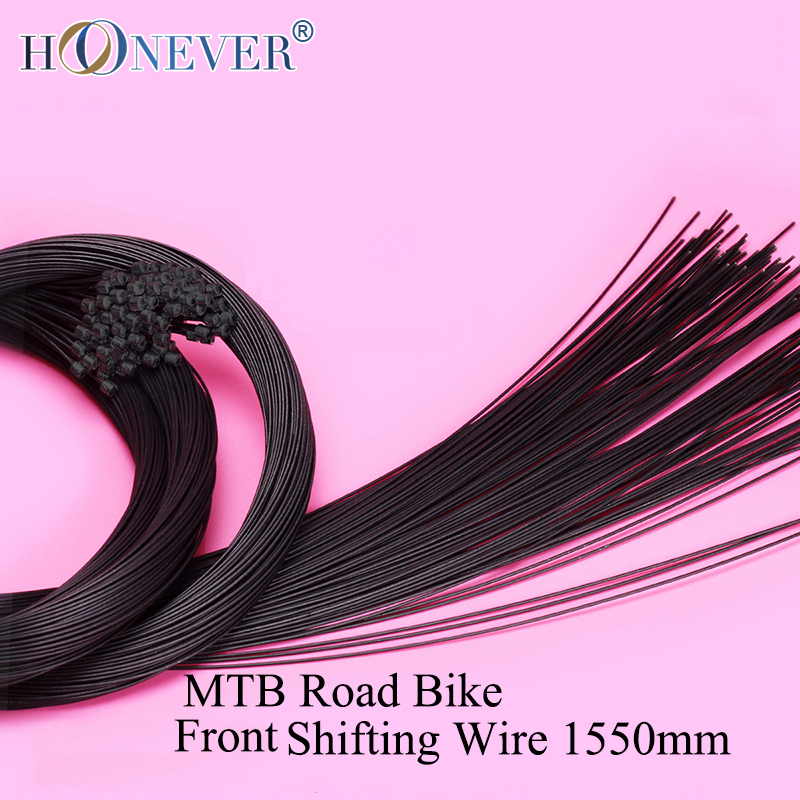 2pcs Mountain Bike Front Shifting Inner Cable Teflon Coated MTB Road Bicycle Front Derailleur Shifter Wire 1550mm(China (Mainland))