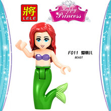 Legoingly друзья для девочек строительные блоки Belle строительные блоки игрушки для детей фигурки принцесс зверь Эльза Золушка куклы(China)