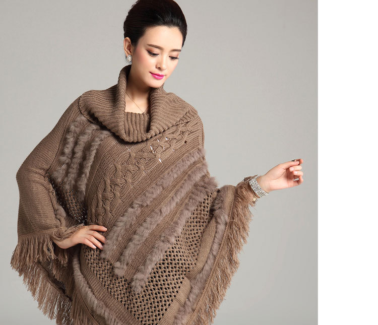 Knitting Pattern For Turtleneck Poncho : Aliexpress.com : Buy 2015 Winter Women Turtleneck Sweater ...