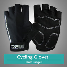 Unisex Anti-slip Cycling Glove Bicycle Mittens Half Finger Gloves Bike Guantes Ciclismo Breathable MTB Road Gloves Today's Deals