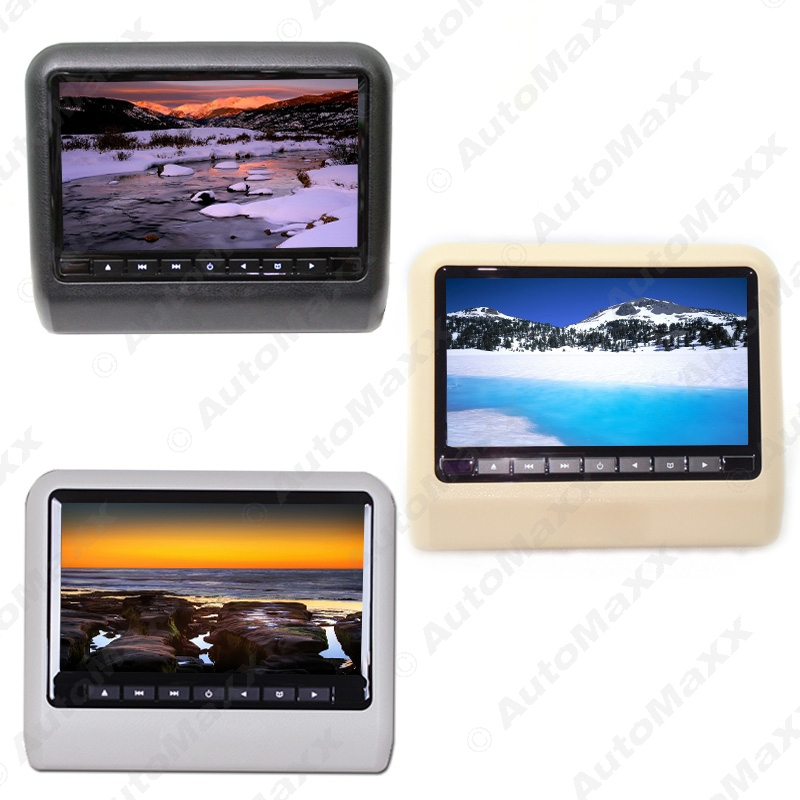 1pc 9 Inch Car Hanging Behind Headrest DVD Player Built-in Game+ IR+Slot-in 3-Color 1pc #CA3858(China (Mainland))