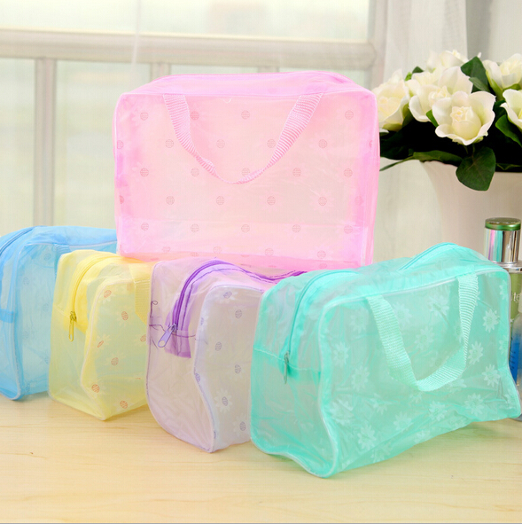 Waterproof Portable Women Cosmetic Makeup bag Travel Wash Storage Bag Tote Toiletries Laundry Shoe Pouch Take a shower bags(China (Mainland))