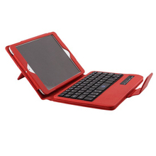 Wireless Bluetooth keyboard for iPad Mini 4/3/2/1 Folding PU Leather Case Cover & Stand 4 Colors P1319 High Quality(China (Mainland))