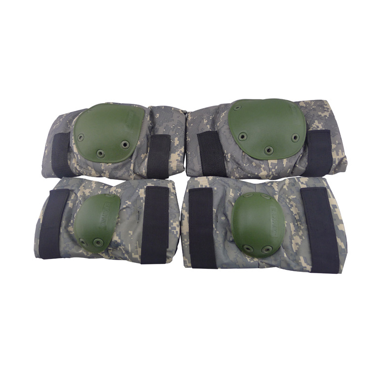 Knee Protective Pad 4pcs pack Protector Gear Sports Tactical Cycling Straps Adjustable 5 Colors Hunting Knees Support Bag(China (Mainland))