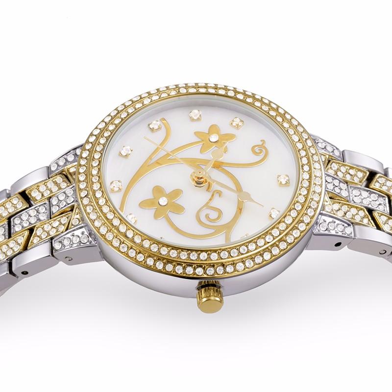 BELBI Бренд Золотые Часы Женщины Роскошный Горный Хрусталь Часы Дамы Платье Наручные Часы Движением Кварца ЯПОНИЯ Relogio Feminino Relojes