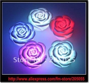 LED Wishing Lotuslight roses love lamp led illumination New Electronic Romantic LED Color Change Rose Novelty Light