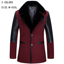 Autumn and winter Trench Coat men in the business loose-fitting men's windbreaker jacket length long section wool coat YY 180(China (Mainland))