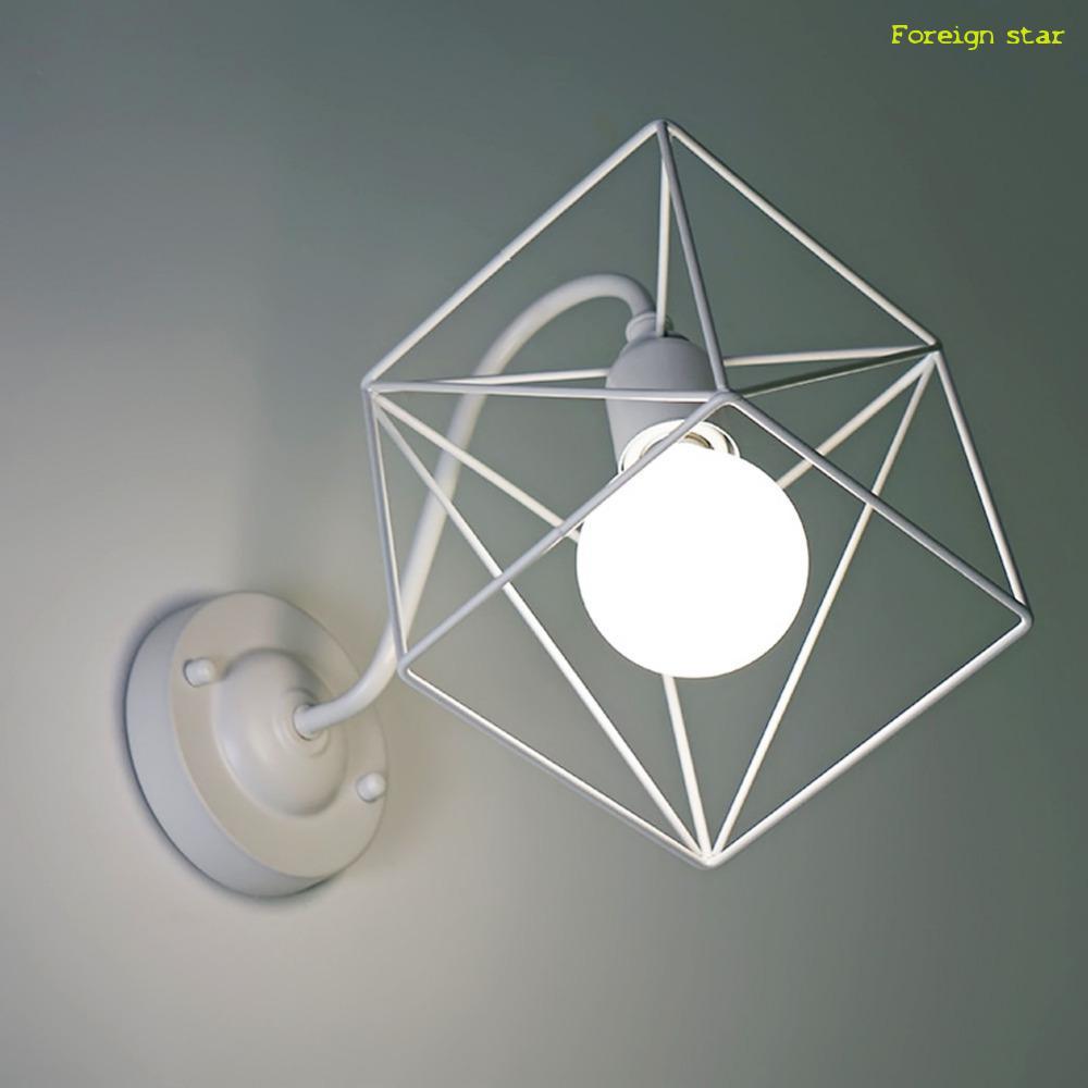 ... duvar aplik Demir Kafes Duvar Lambaları Armatür Duvar Işıkları