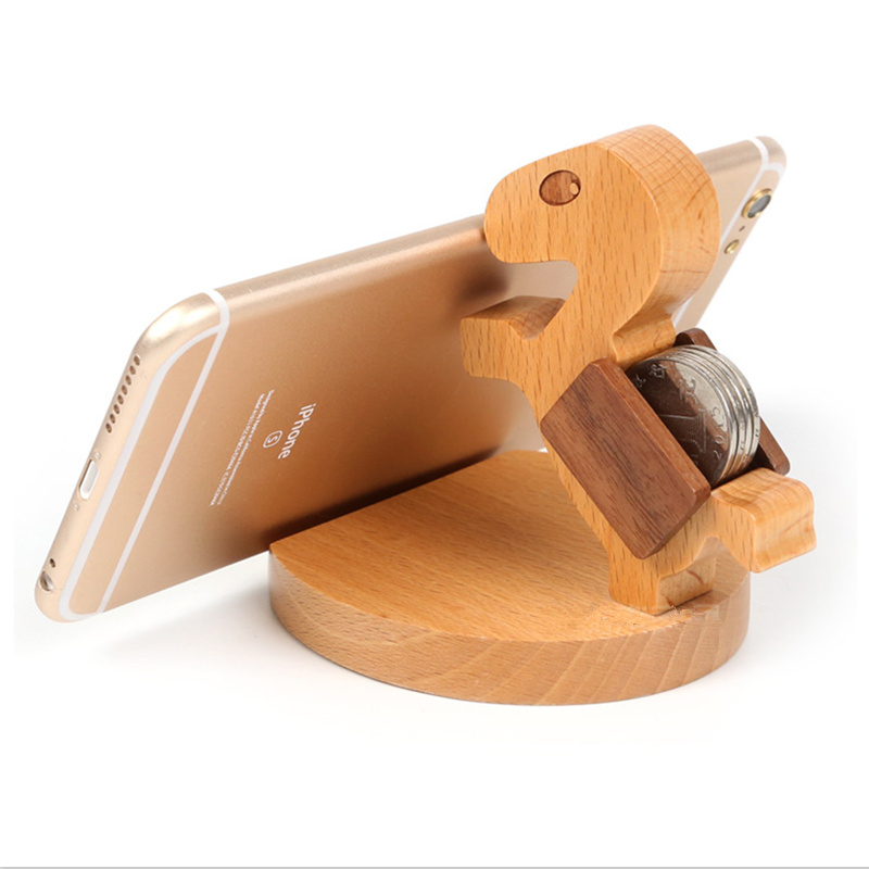 2016 Multi-Angle Wood Horse Holder Cutely Pony Stand for Smart Phones Tablets E-readers(China (Mainland))