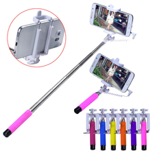 Handheld Extendable selfie stick for samsung For Apple monopod Mini Self-Pole Tripod Monopod Stick self selfie Monopad(China (Mainland))