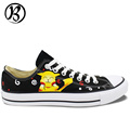 Pokemon Pikachu Low Top Painted Canvas Shoes Custom Hand Painted Christmas Gifts Birthday Gifts Womens Mens
