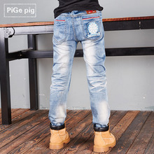 PiGe pig brand children's clothing in the autumn of 2015 the new boy children pants jeans trousers panty ZhongTong cotton kids