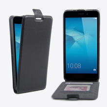 Flip Vertical Magnetic PU Leather Cell Phone Case Back Skin Open Wallet Card Slots Cover Pouch Huawei Honor 5C 5.2'' - EQT Group store