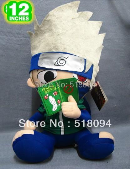 "Free Shipping Japanese Anime Cartoon Naruto Hatake Kakashi Plush Toy Plush Doll Figure Toy 12"" Chritmas Brithday Gift(China (Mainland))"