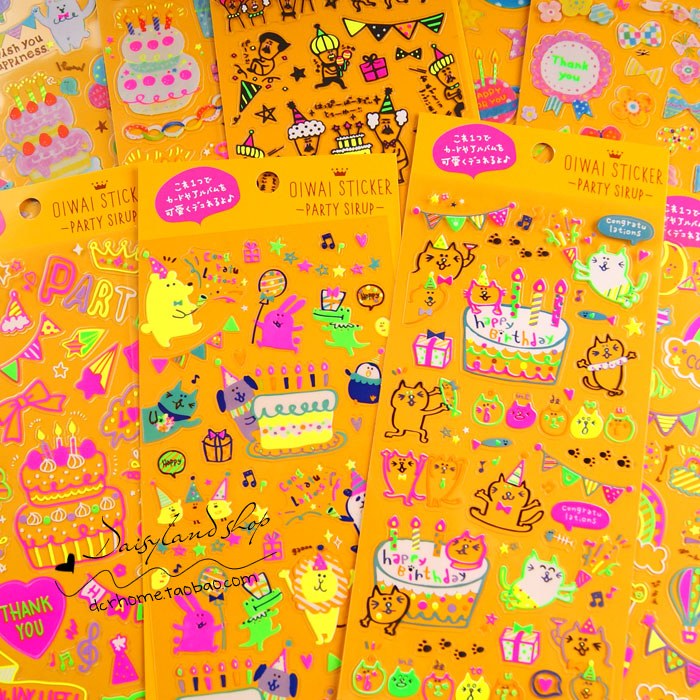One Sheet Creative Q-lia Party Theme Decoration Stickers Diary Sticker Scrapbook Decoration Stationery Stickers Memo pad(China (Mainland))