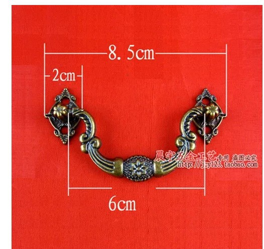 B052 plastic antique wooden box eight star small handle special handle parts European Door Drawer ull(China (Mainland))