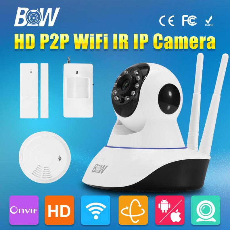Фотография BW Double Antennas HD 720P Security Camera Wireless IP Wifi PZT Automatic Sensor Alarm System Surveillance CCTV CMOS Endoscope