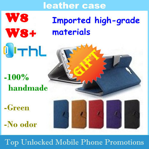 SuperFiber Leather Case for THL w8 w8s w8+ Flip cover case  Imported high-grade materials 100% handmade Free shipping