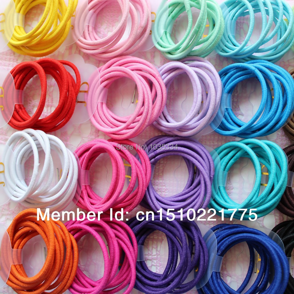 Candy color Hair Elastic band baby headwear hair rope Ponytail Holder hair accessories(China (Mainland))