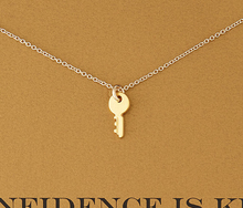 Hot Sale Sparkling Key gold Pendant necklace Key golden18k Statement NecklaceFor Women Jewelry Has Infinite Love