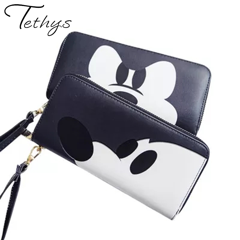 Tethys Brand Designer Women Wallet PU Leather Fashion Female Mickey Purse For Geenage Girls Printing Purse Portefeuille Femme(China (Mainland))