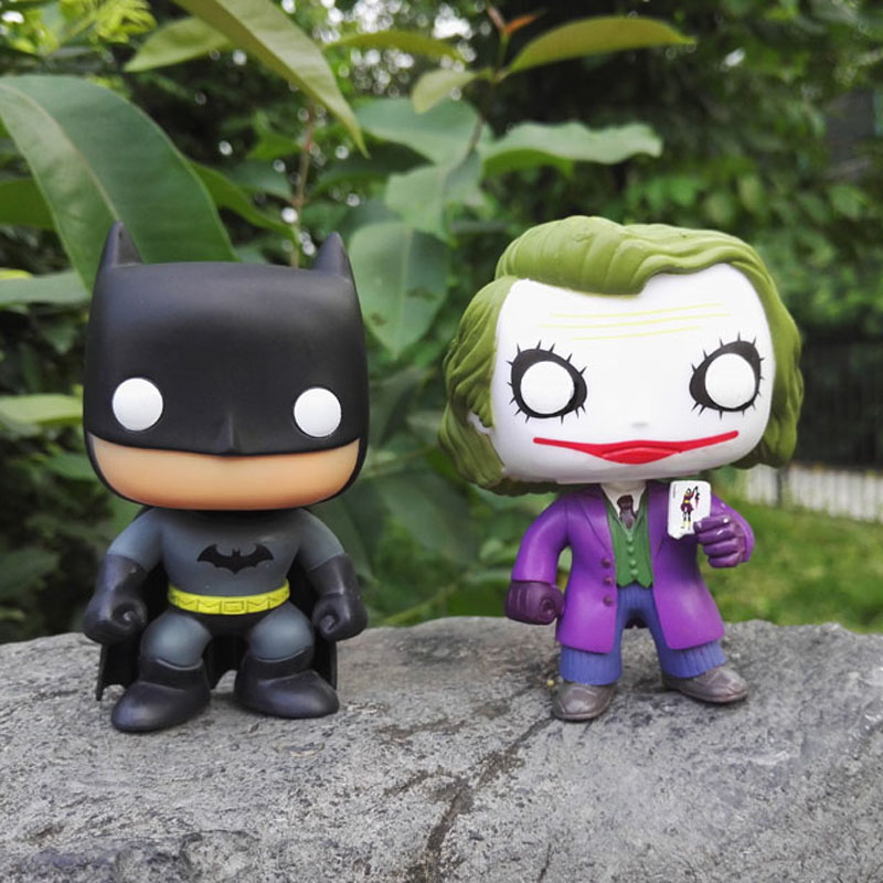 Funko Pop The Joker Batman DC Justice League Heroes 01 PVC Action Figure Collectible Kids Model Toy 10cm free shipping(China (Mainland))