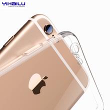 Для iPhone 6 s тпу мягкий чехол защитите камеры обложка прозрачный силиконовый ультра-тонком корпусе для iPhone6s плюс настоящее слежения номер