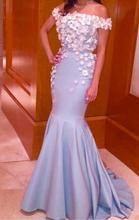 2016 Luxury Mermaid Prom Dressess Sequins Off The Shoulder With Flowers Appliques Evening Wear Floor Length Party Gowns EV77