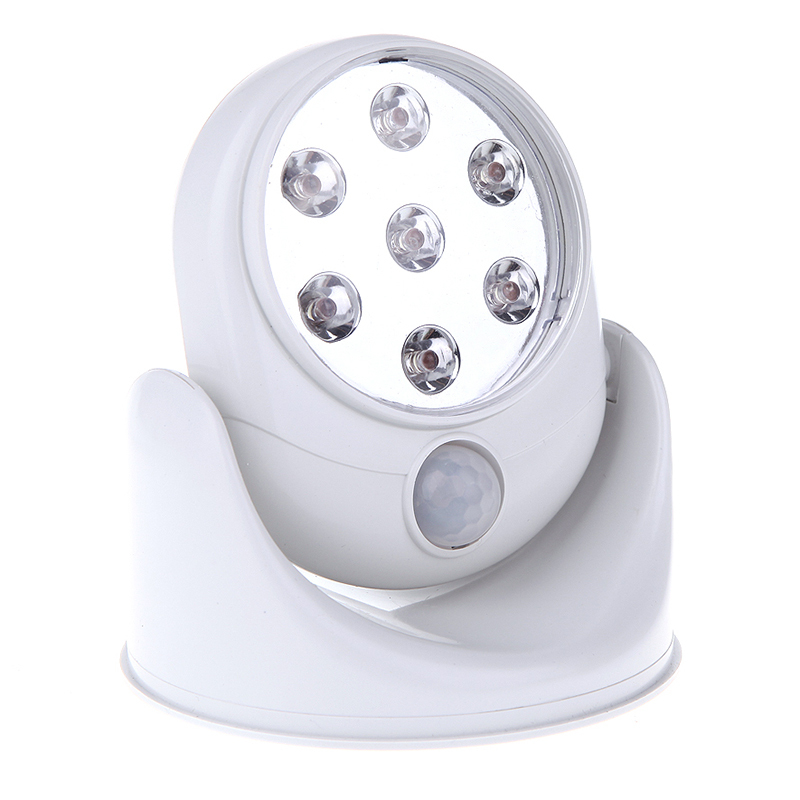 Motion Activated Cordless Sensor LED Light Indoor Outdoor Garden Patio White