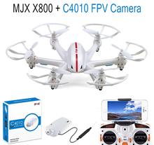 F15309-B/10 MJX X800 2.4G Gyro RC Drone Hexacopter UAV 3D Roll Auto Return Helicopter + MJX C4010 720P 1.0MP HD FPV Camera