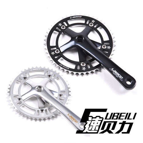 Fixed gear bike 46T 48T chainring crankset hollow crank set chainwheel axle - HK RealPower Industry Limited store