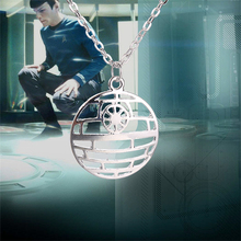 Star Trek necklace Star Wars The Death Star pendant movie jewelry for men and women wholesale(China (Mainland))