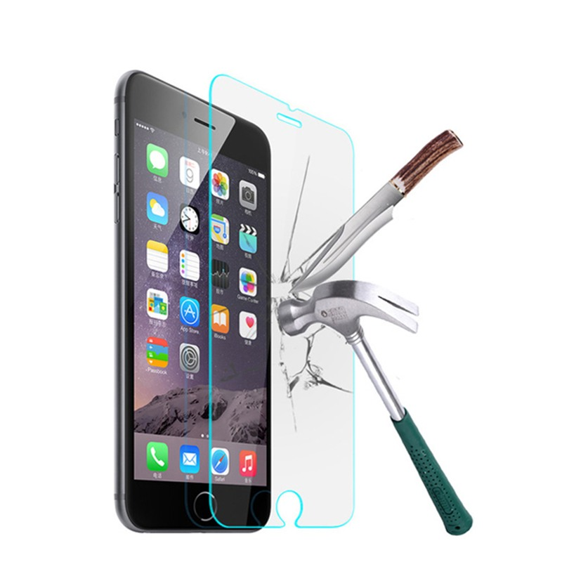 Ascromy iPhone 7 6 6S Plus 5 5S SE 5C 4 4S Front Cover Case Tempered Glass Screen Protector 9H Film HD Toughened Protective