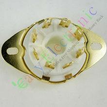 Buy Wholesale retail 8pc Gilded 8pin Ceramic vacuum tube socket top mount gold valve base Fr EL34 6L6 free for $13.70 in AliExpress store