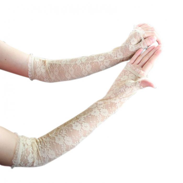 how to make fingerless gloves out of lace