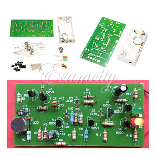 Clap Switch Suite Electronic Production DIY Kits Red Green LED Display Circuit(China (Mainland))