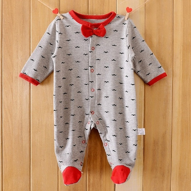 Baby Rompers Хлопок Тела подходит Длинные Пижамы Ползунки payifang 1 шт. Малышей ОДНИМ PIECES Одежда