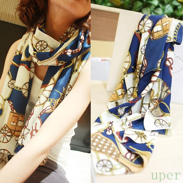2015 New Arrival Lady Long Scarf Women Soft Silk Chiffon Wheel Scarves Wraps Shawl Casual(China (Mainland))