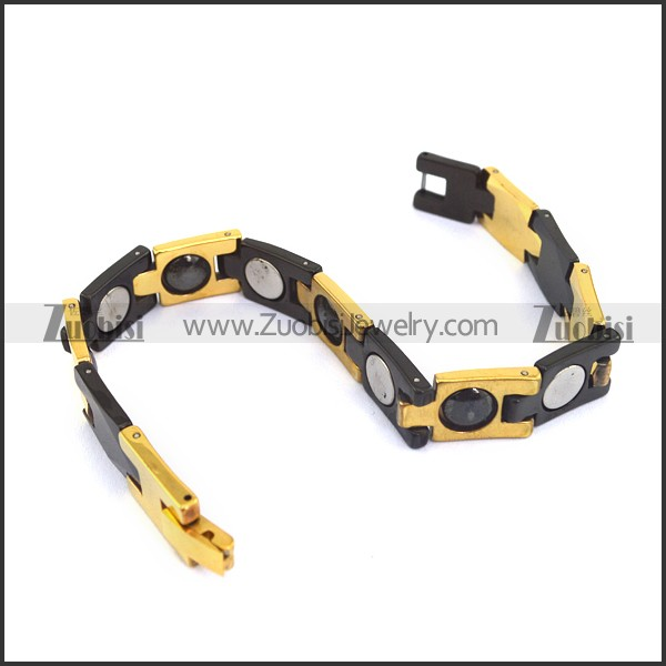Black and Gold Plated Tungsten Bracelet Daily Attractive Accessoris(China (Mainland))