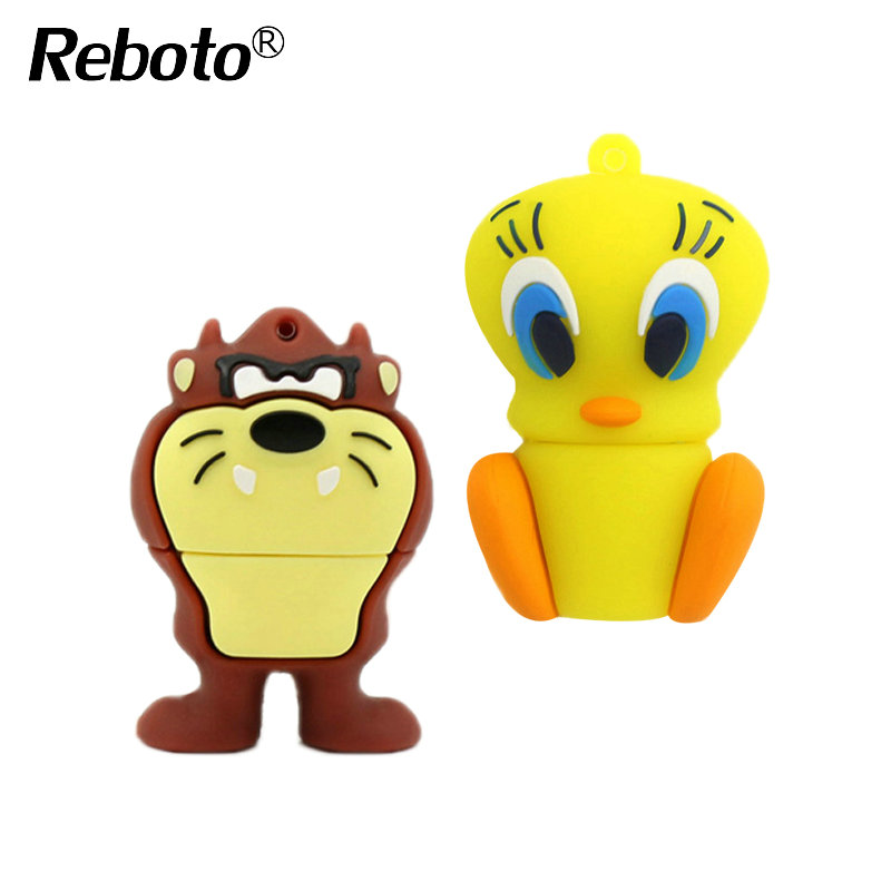 Reboto Daffy Duck 8GB 16GB 32GB 64GB Bugs Bunny Lion cat USB Flash Drive Pendrive animal 4GB U Disk Pendrive Memory Stick(China (Mainland))