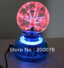 Novelty gift Glass static lamp Plasma Ball High quality USB magic induced Lightning Light Lamp ball USB cable audio control(China (Mainland))