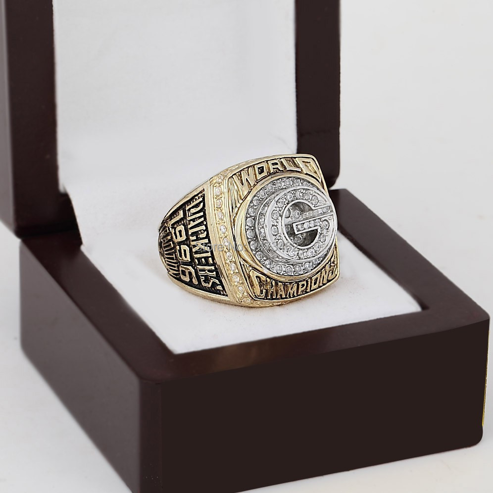 High quality Replica 1996 GREEN BAY PACKERS SUPER BOWL XXXI Football World Copper Championship Ring for fans gift with box(China (Mainland))